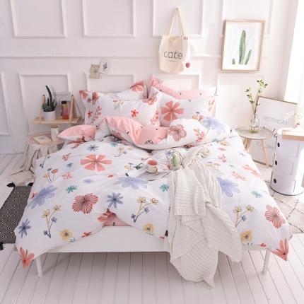 (总)棉语家纺 简约时尚全棉四件套床笠款