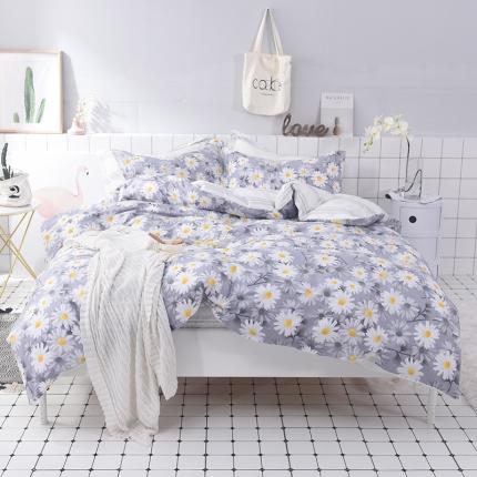 棉语家纺 简约时尚全棉四件套床单款 花开朵朵