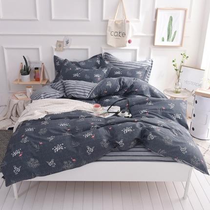 棉语家纺 简约时尚全棉四件套床单款 欧诺拉