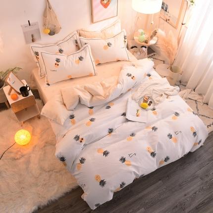 (总)棉语家纺 全棉生态磨毛三件套床单款