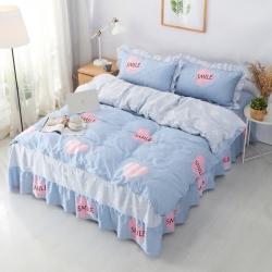 (总1)爱妮玖玖 2019全棉普款夹棉床罩四件套(不含包装)