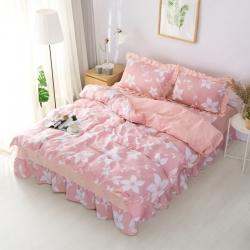 (總)愛妮玖玖 2019全棉普款系列單層床裙四件套