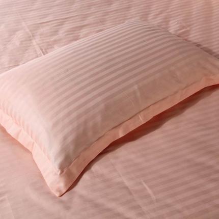(总)爱妮玖玖全棉 纯色缎条信封枕套一对48cm*74cm
