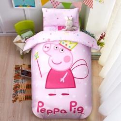 慈游棉业 幼儿园套件大版花型 可爱猪粉