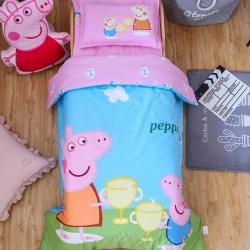 慈游棉業 幼兒園套件大版花型 可愛豬干杯