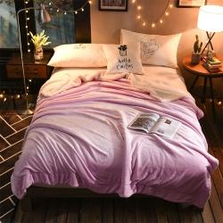 (总)睡美人家纺 法莱绒+羊羔绒双层北欧风毯羊羔绒毛毯