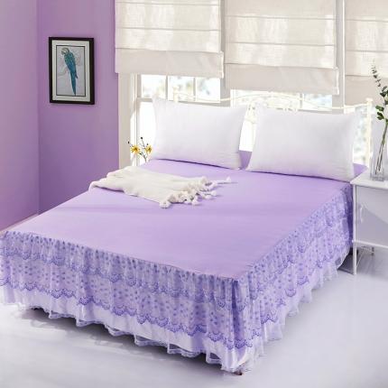 丹虹家纺 蕾丝床裙爱丽莎紫色