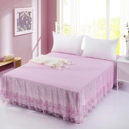 丹虹家纺 蕾丝床裙春暖花开粉色