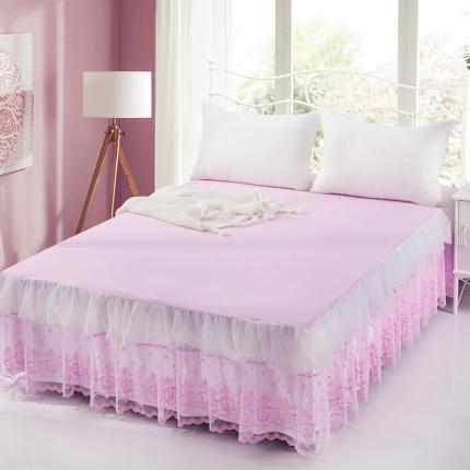 丹虹家纺 蕾丝床裙漫纱粉色