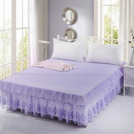 丹虹家纺 蕾丝床裙漫纱紫色