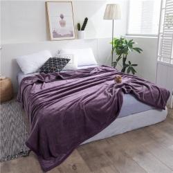 总-雅萱-云貂绒法兰绒珊瑚绒金貂绒加厚毛毯纯色毯午睡毯盖毯