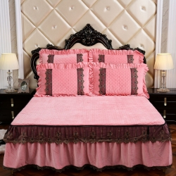 (總)歐詩藍家紡 水晶絨保暖夾棉床裙單品床裙