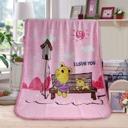 赋雅家纺 超柔加厚活性印染儿童双层云毯 拉舍尔毛毯童毯 总