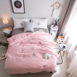 微乐家纺 水洗棉冬被氧气森林系列 粉红色