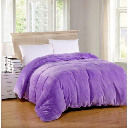 恺畅家纺 纯色法莱绒单品被套  浅紫