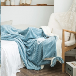 輕奢坊2019魔法絨萌耳系列毛毯加厚法萊絨牛奶絨水晶絨 萌藍