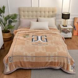 城市居品 时光系列新中式大版印花云毯毛毯 魅格维度