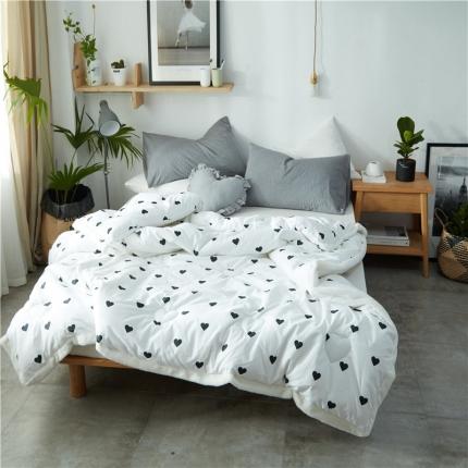 寐眠家纺 全棉冬被绒边款 白色