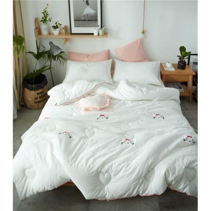 寐眠家纺 水洗棉冬被猫咪款 猫咪白