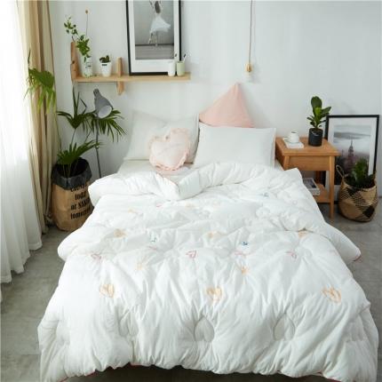 寐眠家纺 水洗棉冬被爱心款 爱心白