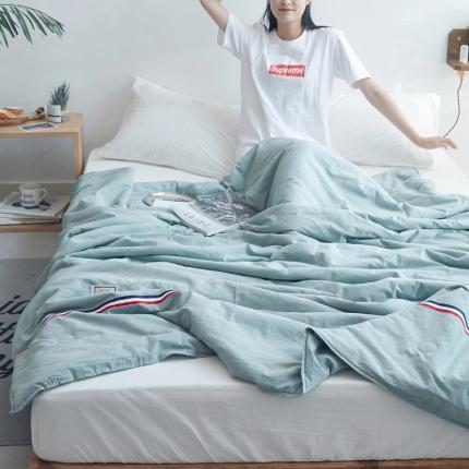 (总)寐眠家纺 2018新款水洗棉织带款夏被