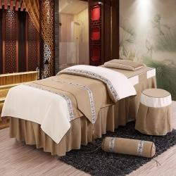 旺妙家纺 新款美容床罩比翼双飞四件套 比翼双飞-驼