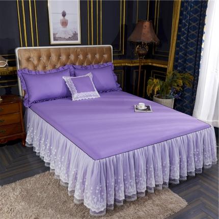 菊上家纺 2019新款维密公主风床裙系列丁香紫