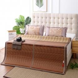加厚双面凉席木纹可折叠镜面竹席水磨碳化竹凉席 竹意轩