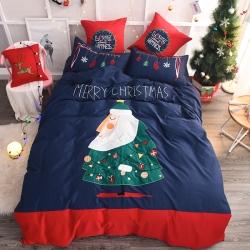 艾纳森家居 80支埃及长绒棉磨毛套件 圣诞耶耶