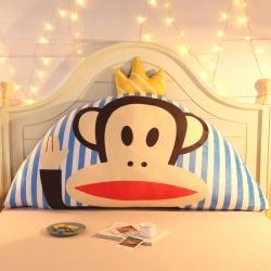 激萌时代 2017新款卡通床头大靠背靠垫大抱枕 皇冠猴