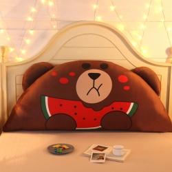 激萌时代 2017新款卡通床头大靠背靠垫大抱枕 西瓜布朗熊