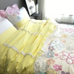 (总)小谷粒 韩式公主风荷叶边绣花四件套
