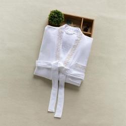 岚司羽 威斯汀酒店双层华夫格毛圈高档宾馆浴袍可定制LOGO