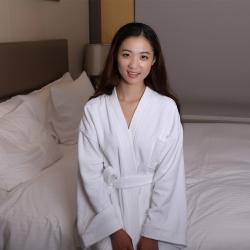岚司羽 五星级酒店高档进口宾馆全棉割绒浴袍瑞亚可定制logo