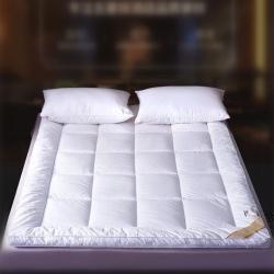 岚司羽 全棉酒店防羽布床垫白色纯棉宾馆民宿家用羽丝绒床护垫