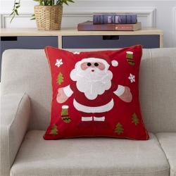 明星枕业 新款全棉毛巾复合秀抱枕靠枕圣诞老人