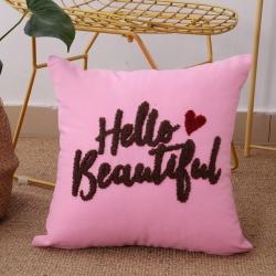 (总)明星枕业 毛线复合绣抱枕hello系列