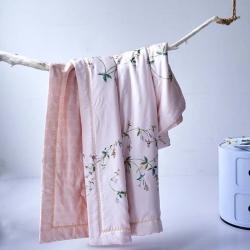 嘉柏家纺奥地利进口兰精天丝工艺空调夏被 柔软细滑可水洗不变形