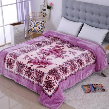 浩情国际 5D雕花水晶云毯紫罗兰