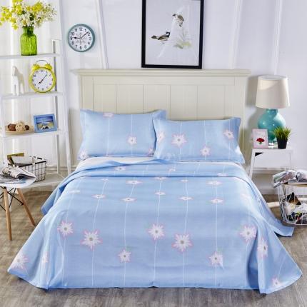 浩情国际 夏季新品冰蚕丝软席三件套系列 一帘幽梦-浅蓝