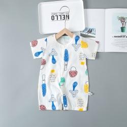 贝拉萌 2019新款双层纱短袖连裆 大蘑菇