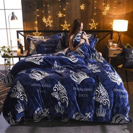 兰曼笛家纺 丹麦绒系列四件套皇冠