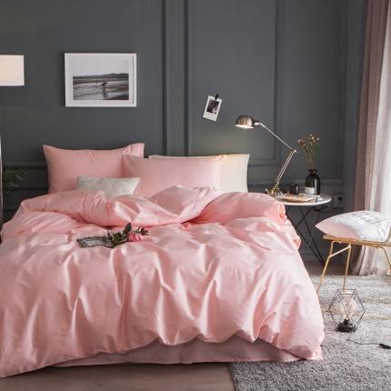 杰米家居 60素色长绒棉英文系列四件套床单款 慕