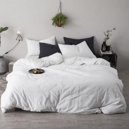杰米家居 刺子棉系列六件套床单款 白色