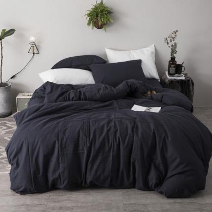 杰米家居 刺子棉系列六件套床单款 蓝色