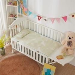 (總)棉堡 新品嬰兒涼席提花彩棉隔尿涼席