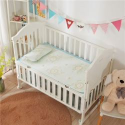 (總)棉堡 新品冰絲席嬰兒涼席兒童涼席冰絲提花隔尿席