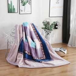 凤凰 2018新款67826拉舍尔毛毯 灰格