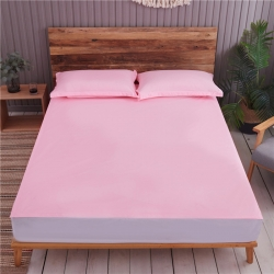 浩远家纺 滴水不漏TPU防水透气系列六面全包床笠 防水-粉色