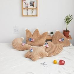 希諾家居 2019新款草莓之戀工藝設計款兔兔絨抱枕 焦糖咖